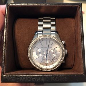 Michael Kors Silver watch with crystal face